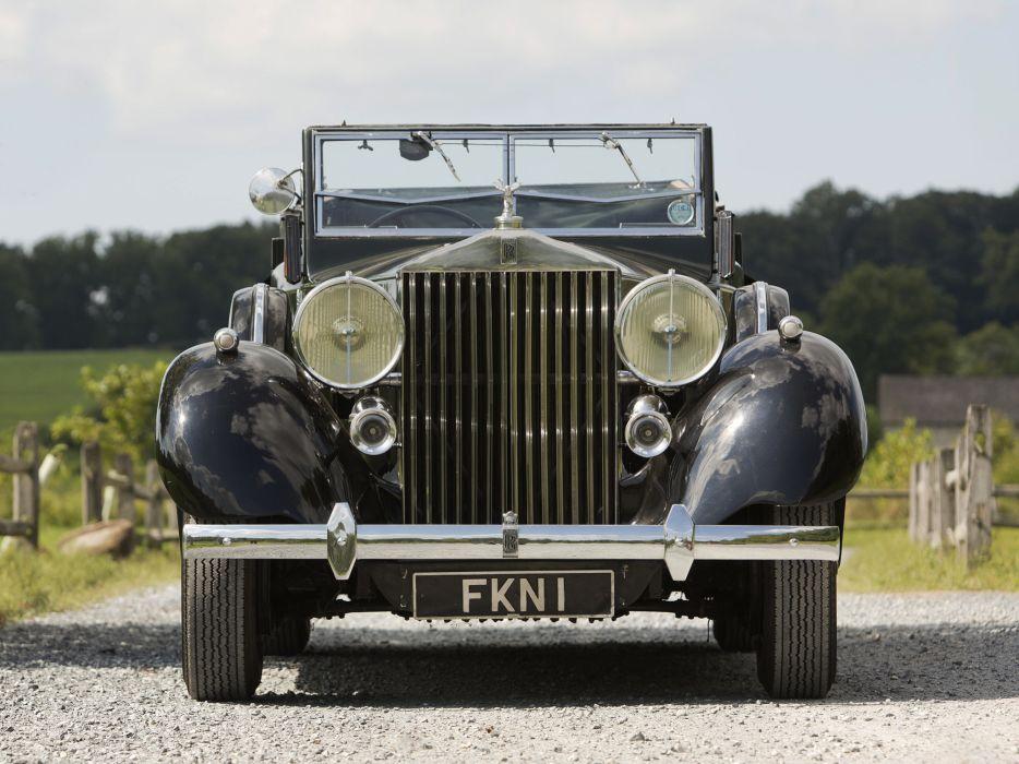 1938 Rolls Royce Phantom III Four Light Cabriolet Freestone Webb luxury retro   f wallpaper