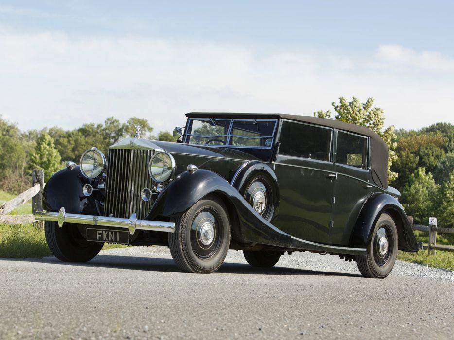 1938 Rolls Royce Phantom III Four Light Cabriolet Freestone Webb luxury retro  h wallpaper
