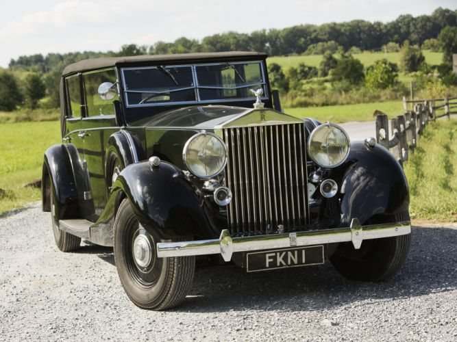 1938 Rolls Royce Phantom III Four Light Cabriolet Freestone Webb luxury retro r wallpaper