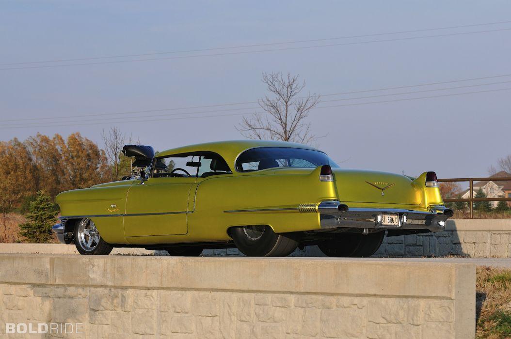 1956 Cadillac Coupe deVille hot rod rods drag race racing retro d wallpaper