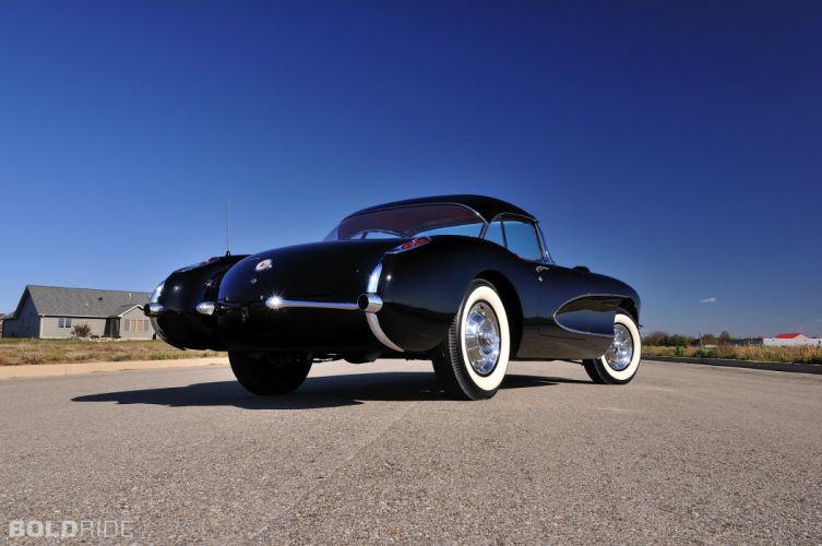 1956 Chevrolet Corvette Resto Mod retro supercar muscle re wallpaper
