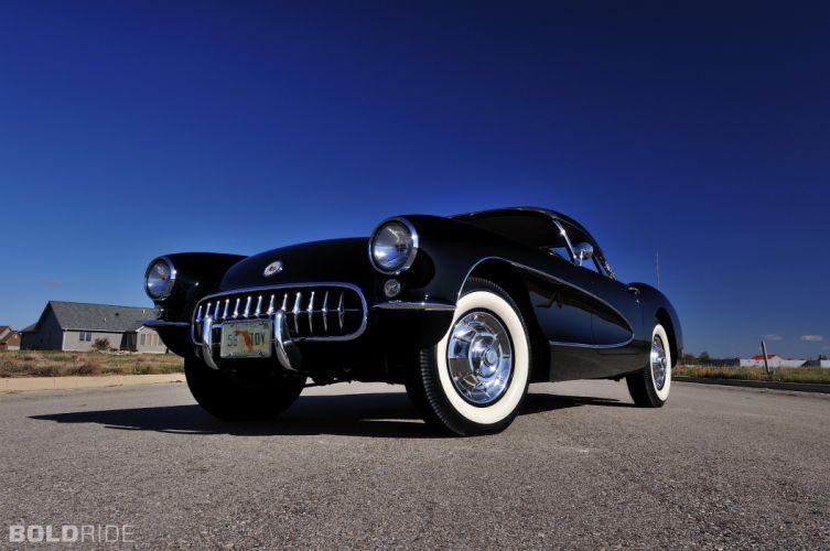 1956 Chevrolet Corvette Resto Mod retro supercar muscle f wallpaper