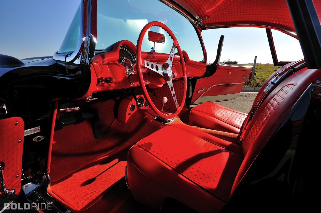 1956 Chevrolet Corvette Resto Mod retro supercar muscle interior    f wallpaper
