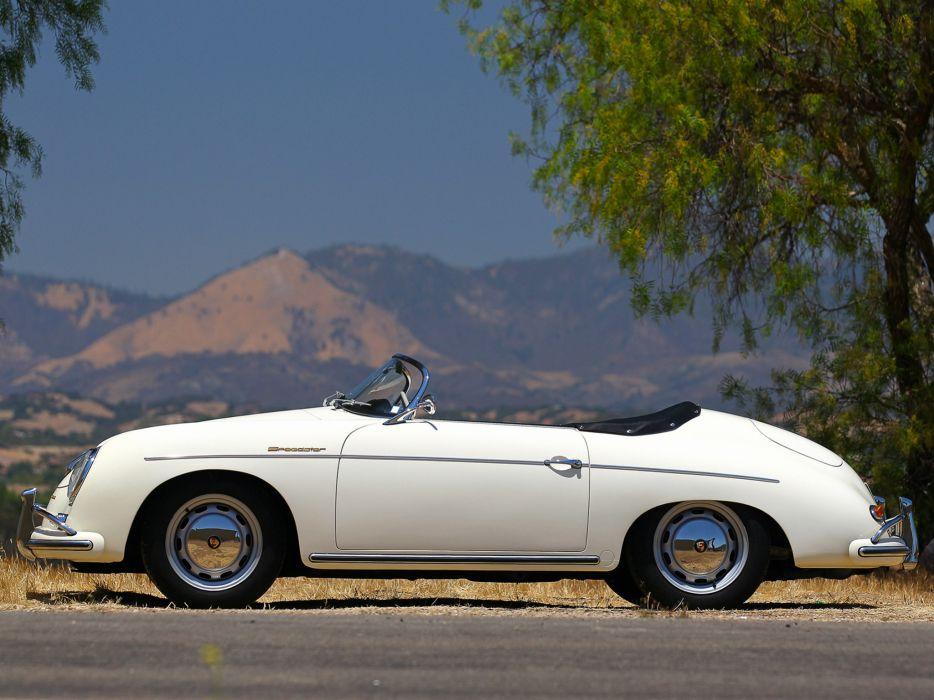 1958 Porsche 356A 1600 Super Speedster by Reutter US-spec (T2) retro t-2  d wallpaper