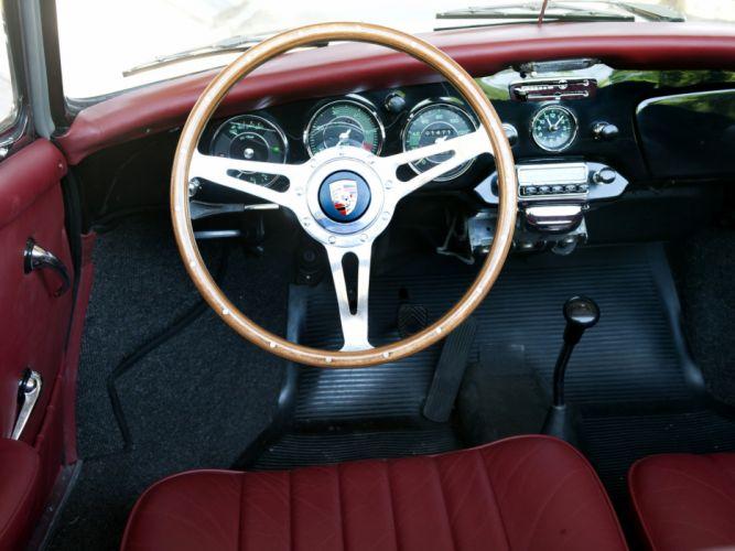 1962 Porsche 356B 1600 Super-90 Cabriolet by Reutter (T-6) classic interior g wallpaper