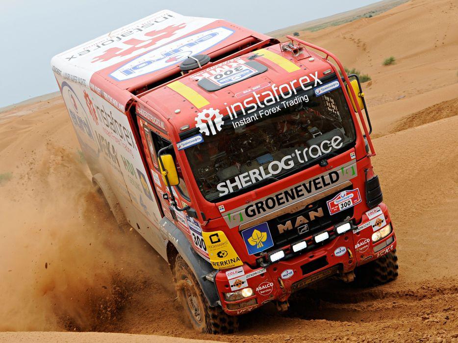 2007 MAN TGS Rally Truck dakar 4x4 offroad race racing   f wallpaper
