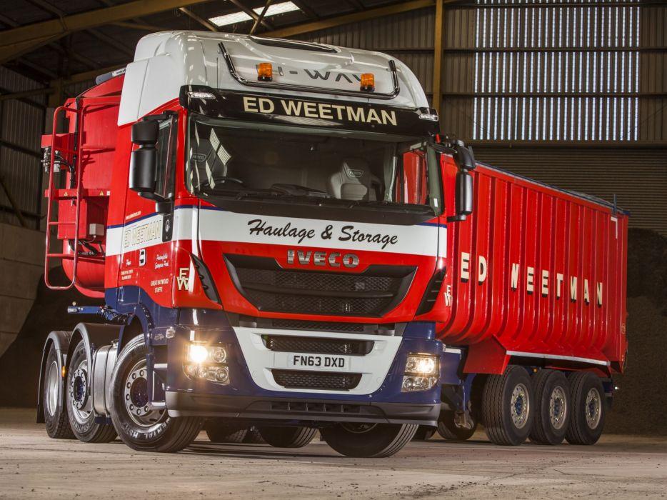 2014 Iveco Stralis Hi-Way 460 6x2 UK-spec semi tractor    f wallpaper