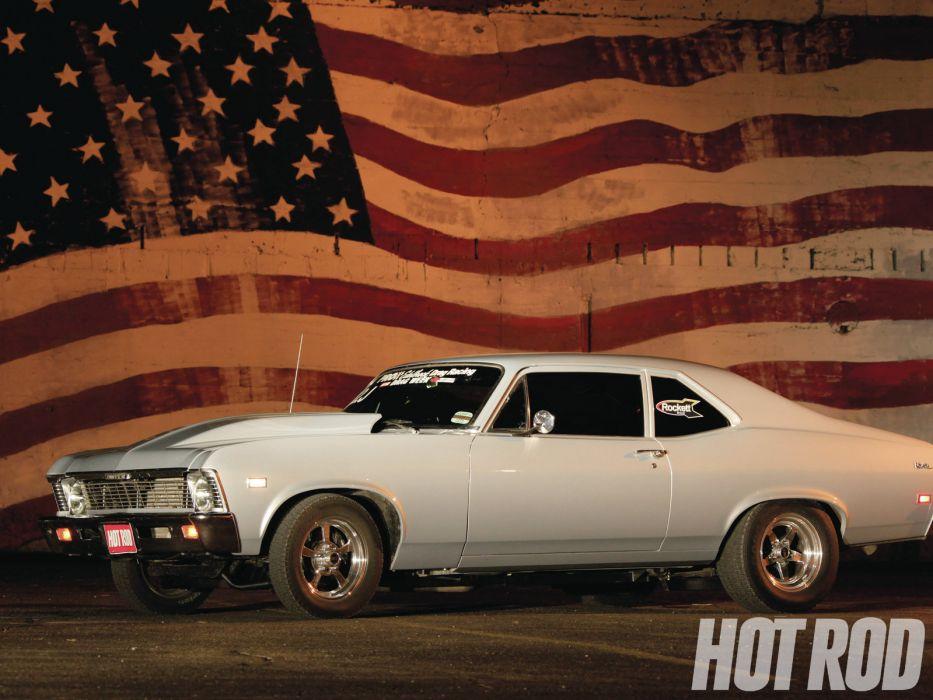 hot rod rods drag race racing chevrolet nova      d wallpaper