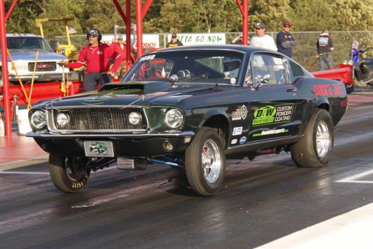 hot rod rods drag race racing ford mustang r_JPG wallpaper