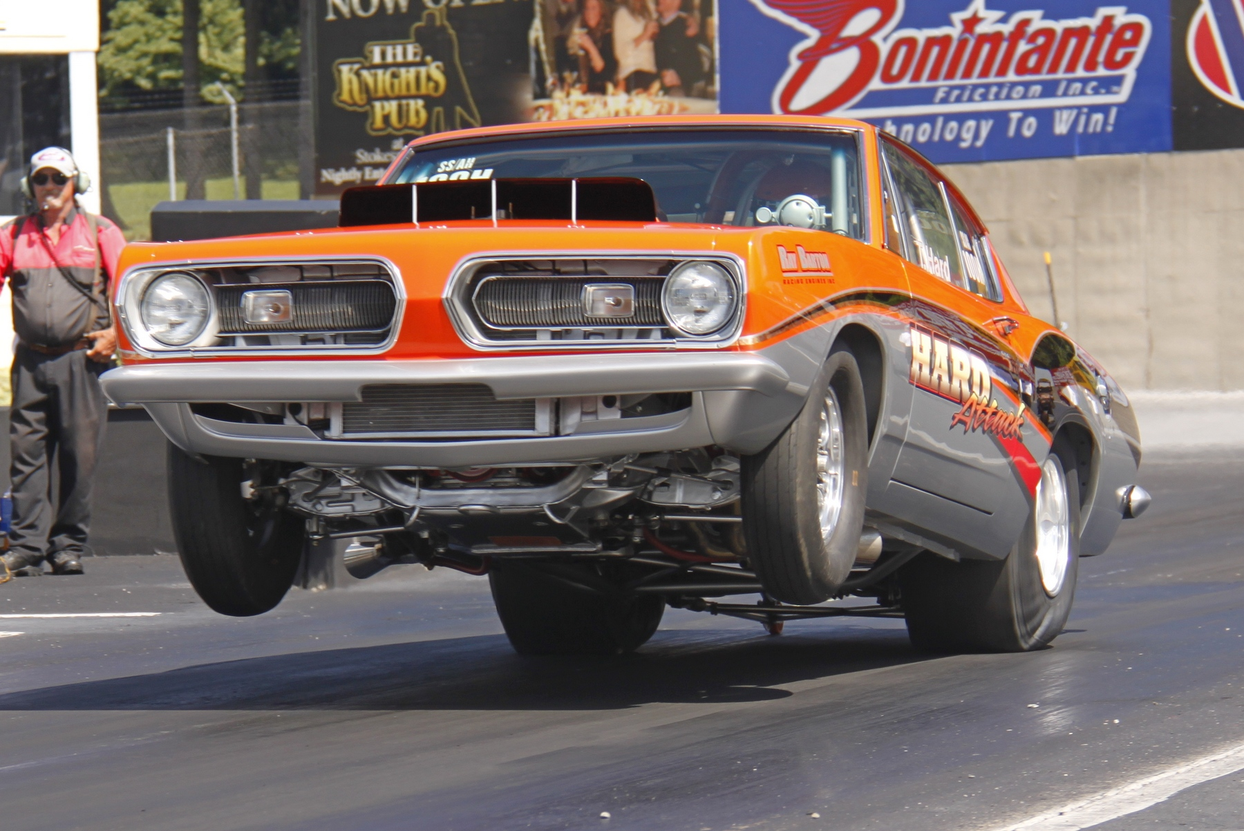 Hot rod rods drag race racing plymouth barracuda cuda r for Wallpaper drag race motor