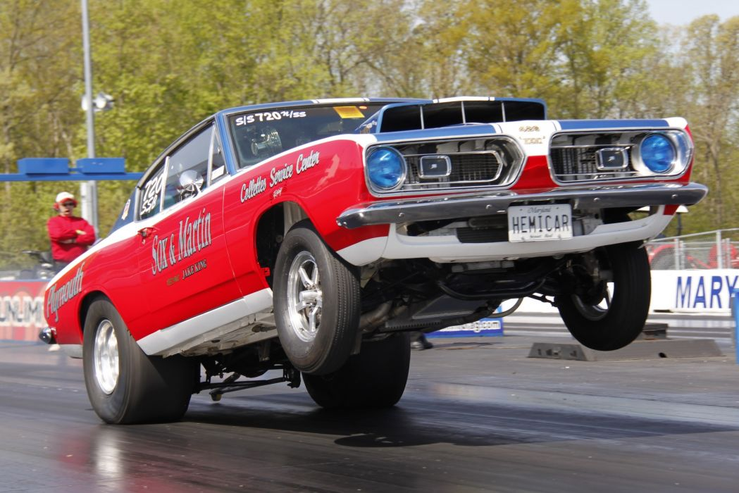 hot rod rods drag race racing plymouth barracuda cuda   r_JPG wallpaper