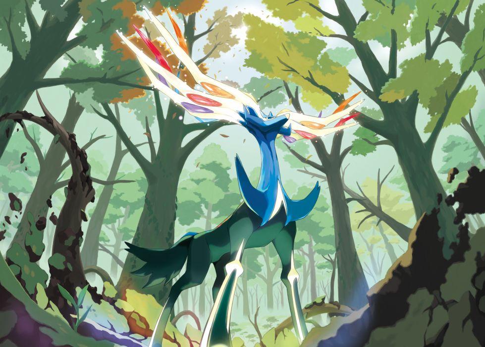 forest pokemon xerneas wallpaper