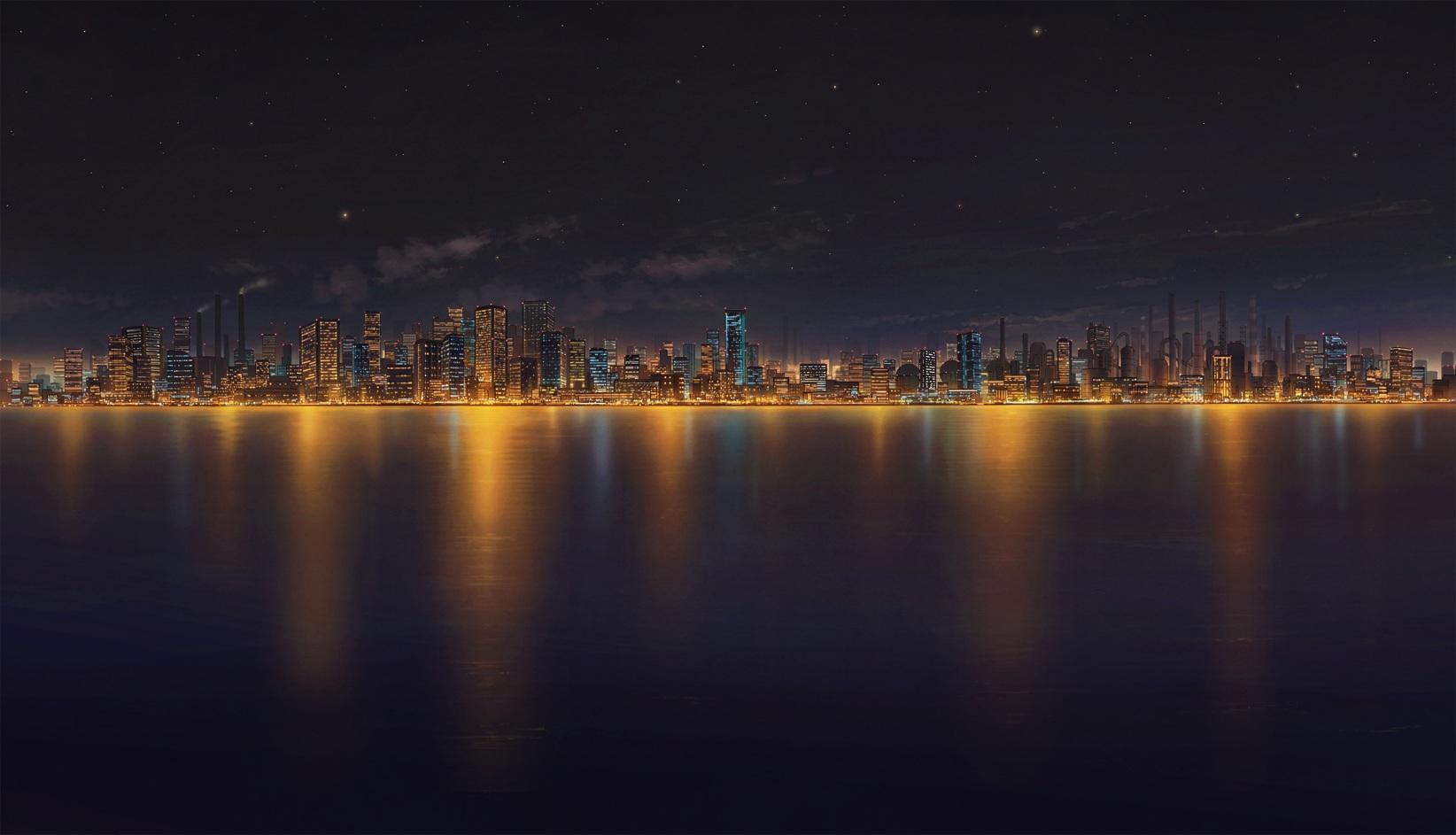 city night sky background - photo #12