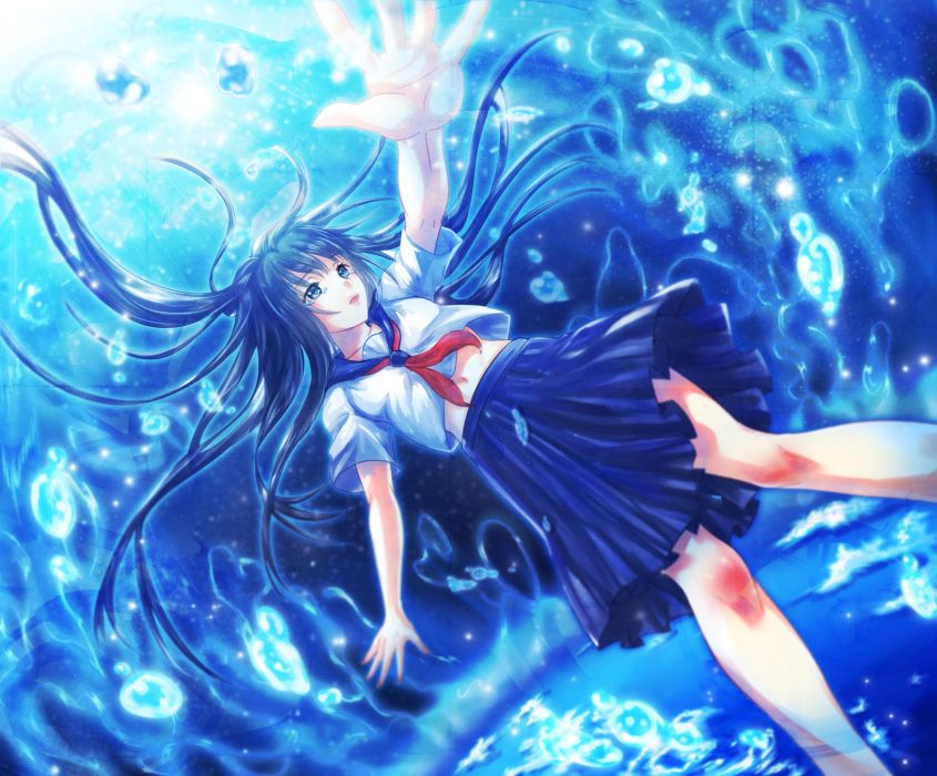 Original underwater mood bokeh bubbles        f wallpaper