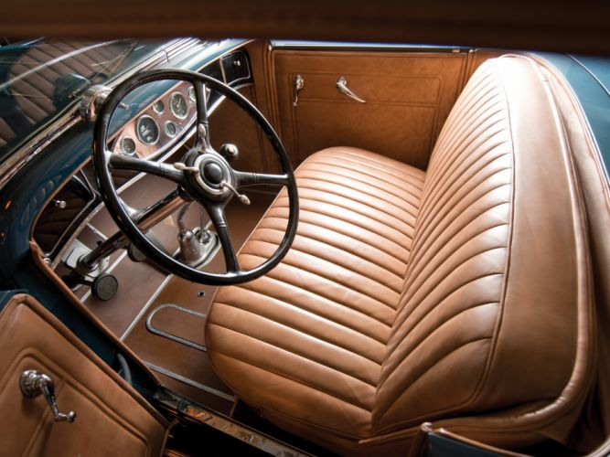 1931 Lincoln Model-K Dual Cowl Sport Phaeton (202-A) retro luxury interior f wallpaper