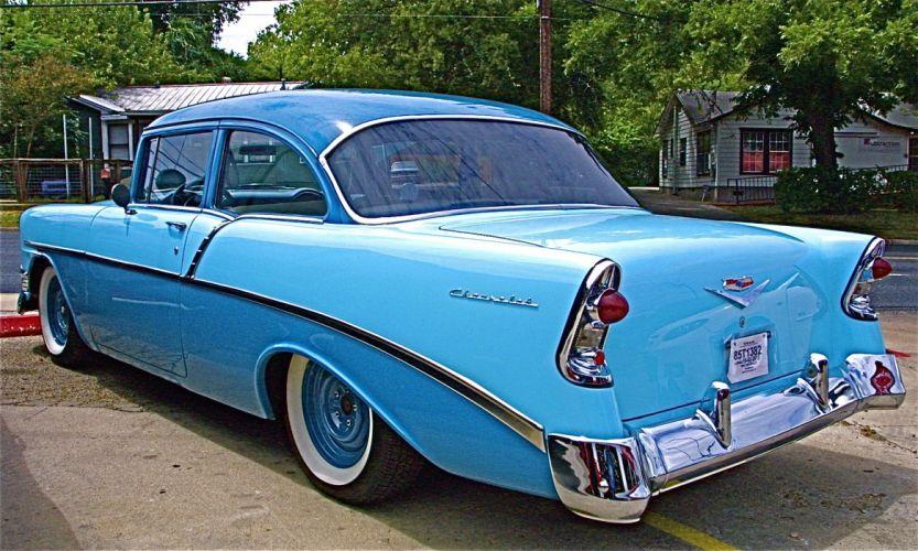 1956 Chevrolet retro e wallpaper