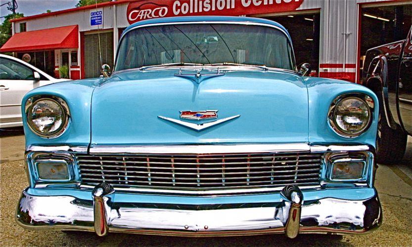 1956 Chevrolet retro f wallpaper