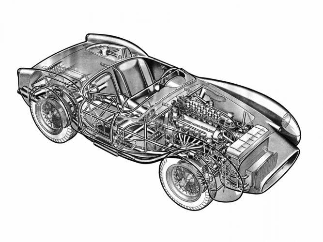 1957 Ferrari 250 Testa Rossa Scaglietti Spyder supercar retro race racing interior engine t wallpaper