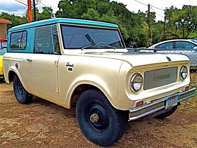 International Harvester Scout classic 4x4 suv f wallpaper