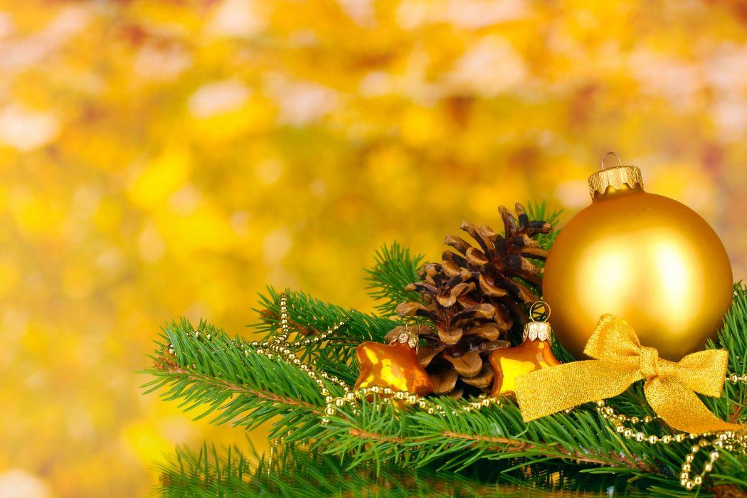 ball pine cone ornaments fir branch wallpaper