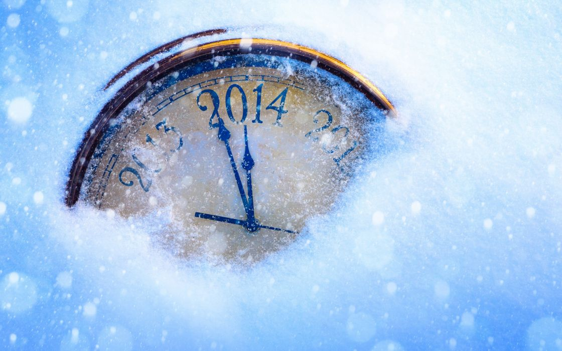 clocks numbers arrows face snow christmas new year     f wallpaper
