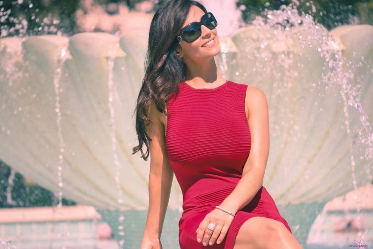 Denise Milani Brunette sexy babe sunglasses wallpaper