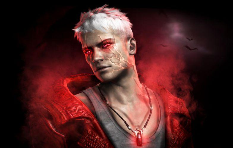Devil May Cry Dante Men Games fantasy warrior magic wallpaper