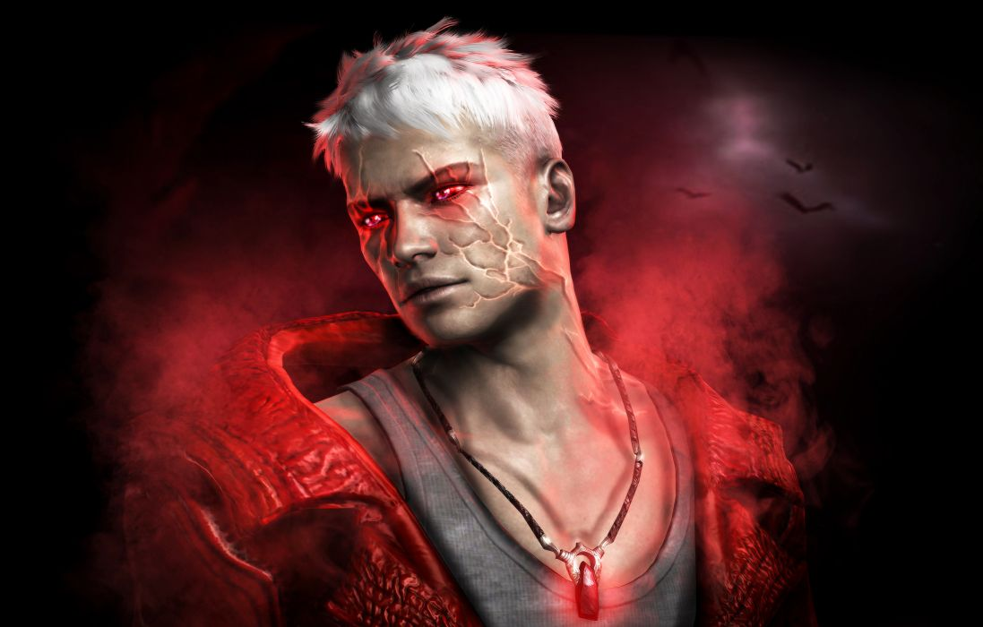 Devil May Cry Dante Men Games fantasy warrior magic wallpaper