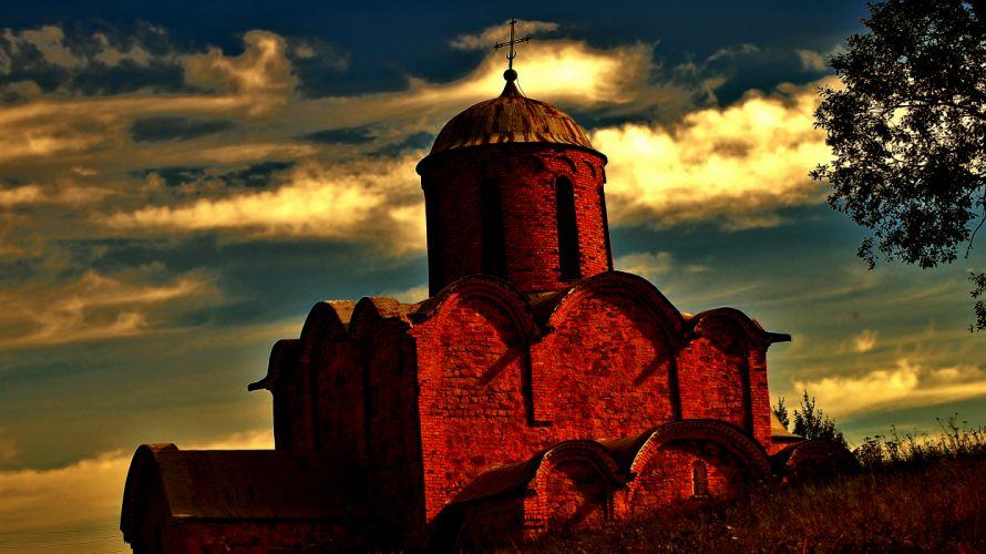 fortress Russia Russia castle brick_ castle sky clouds wallpaper