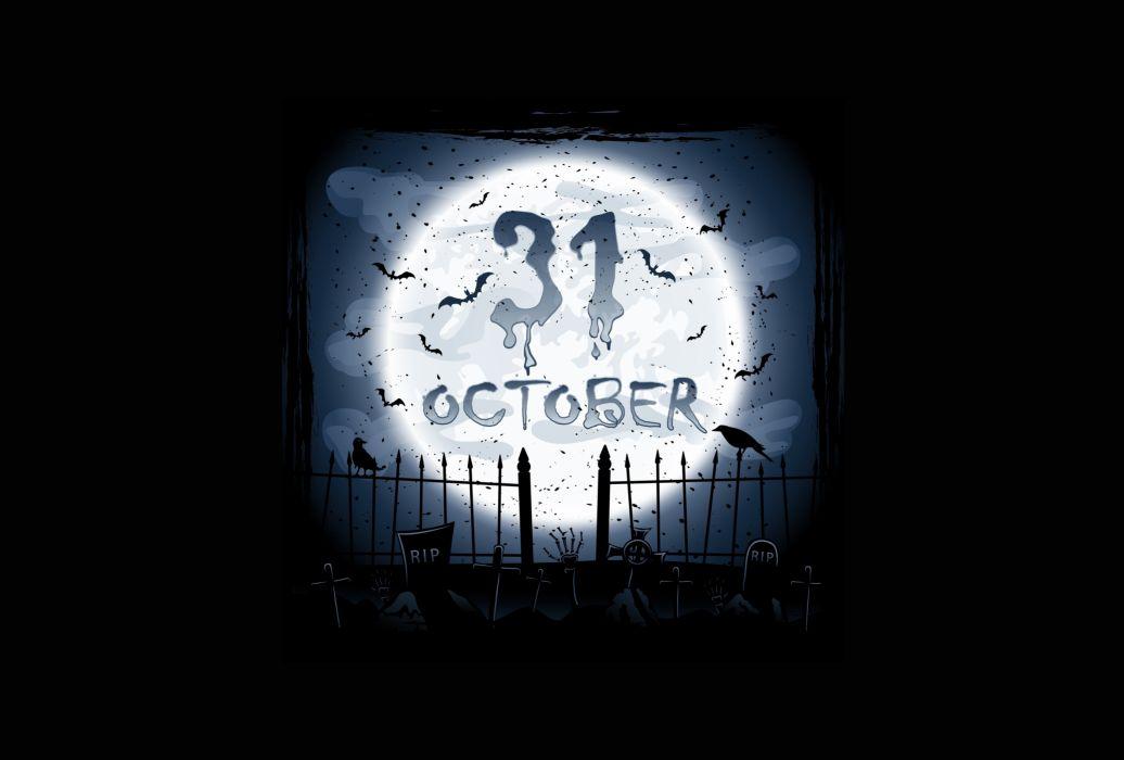 graveyard october crows creepy horror holiday halloween scary dark      h wallpaper