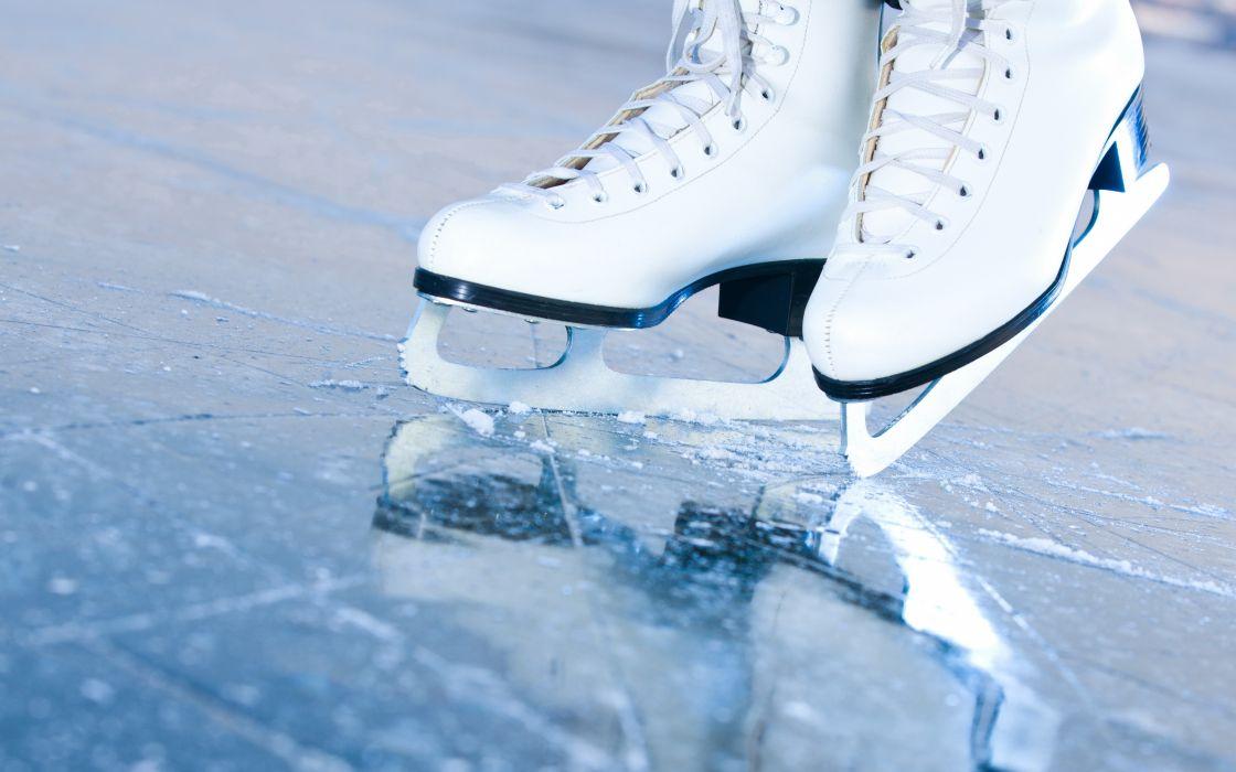 ice rink ice skating bokeh wallpaper