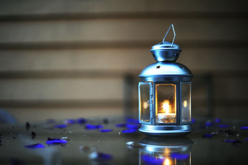 mood blue light fire bokeh wallpaper