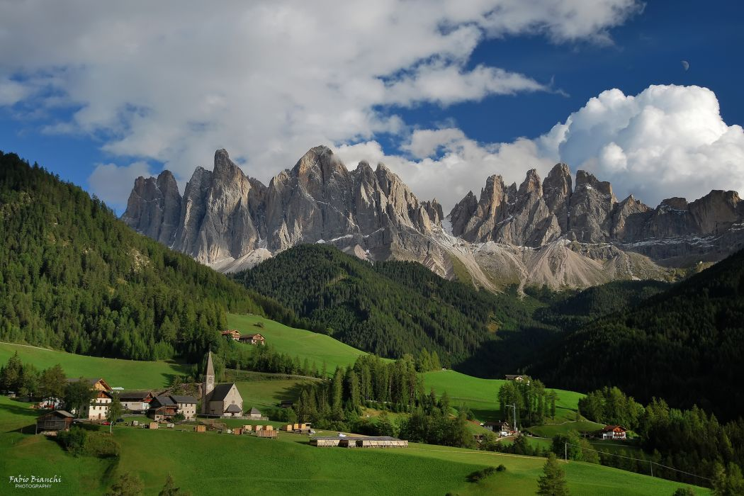 Mountains Italy Scenery Santa Magdalena Funes Nature wallpaper