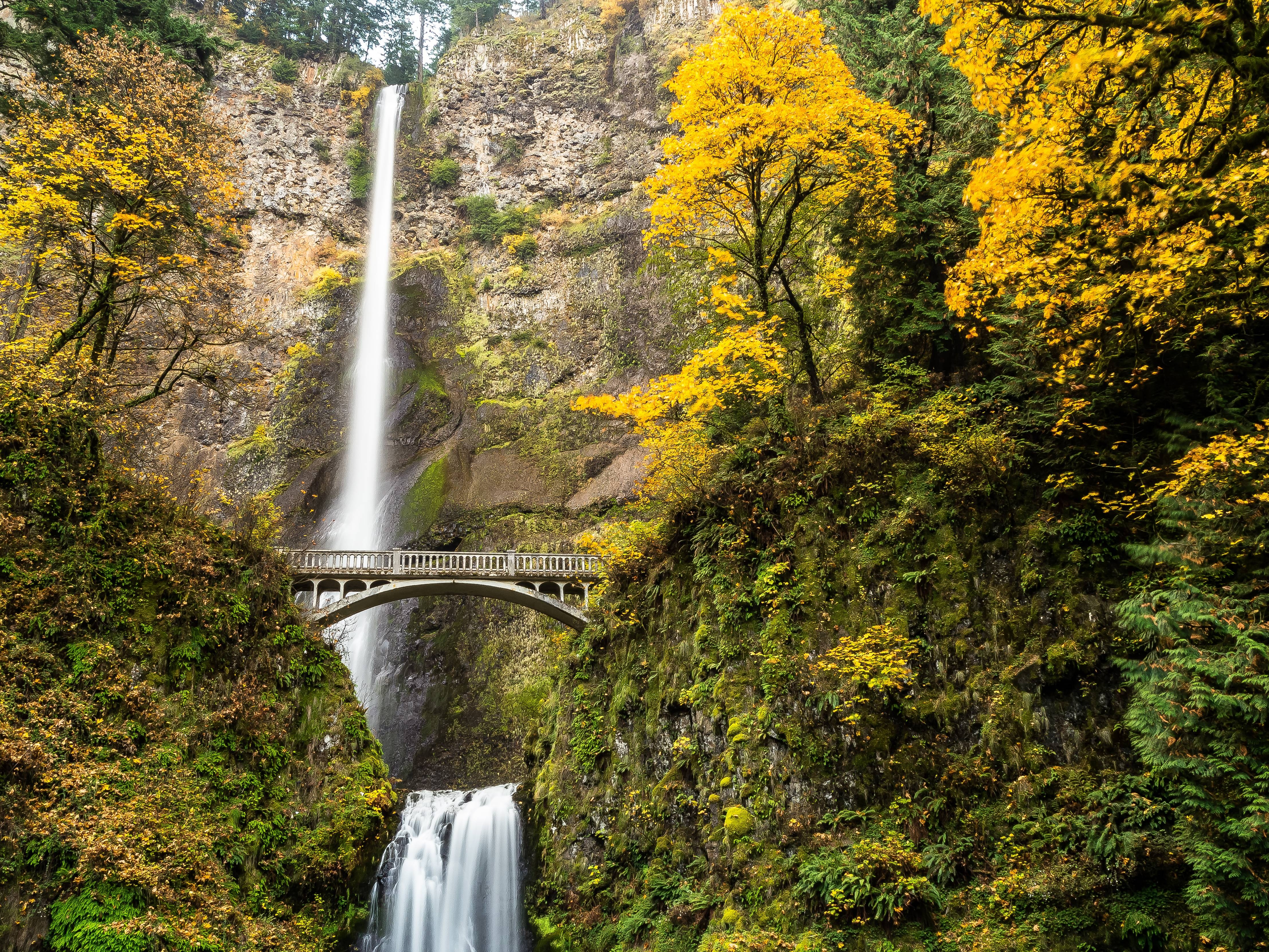 Nature Wallpaper Waterfall Columbia River Oregon