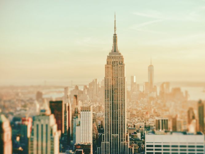 New York Buildings tilt shift wallpaper