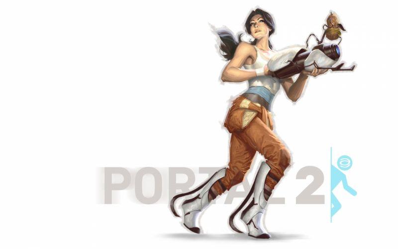 Portal 2 Games Girls sci-fi warrior f wallpaper