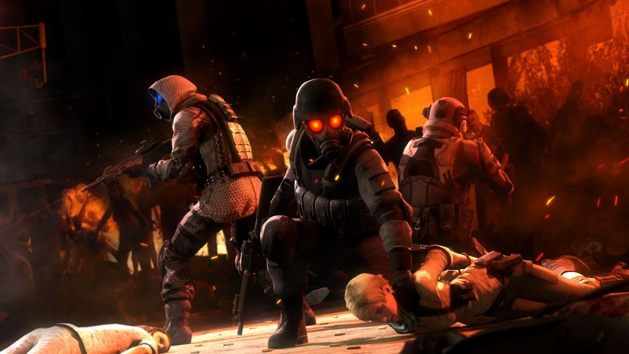 Resident Evil Warriors Soldier Games warrior sci-fi wallpaper