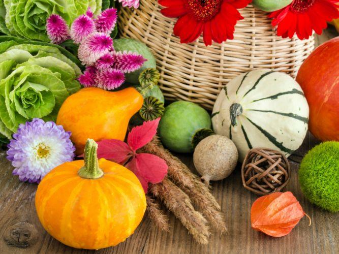 Vegetables Pumpkin Food wallpaper