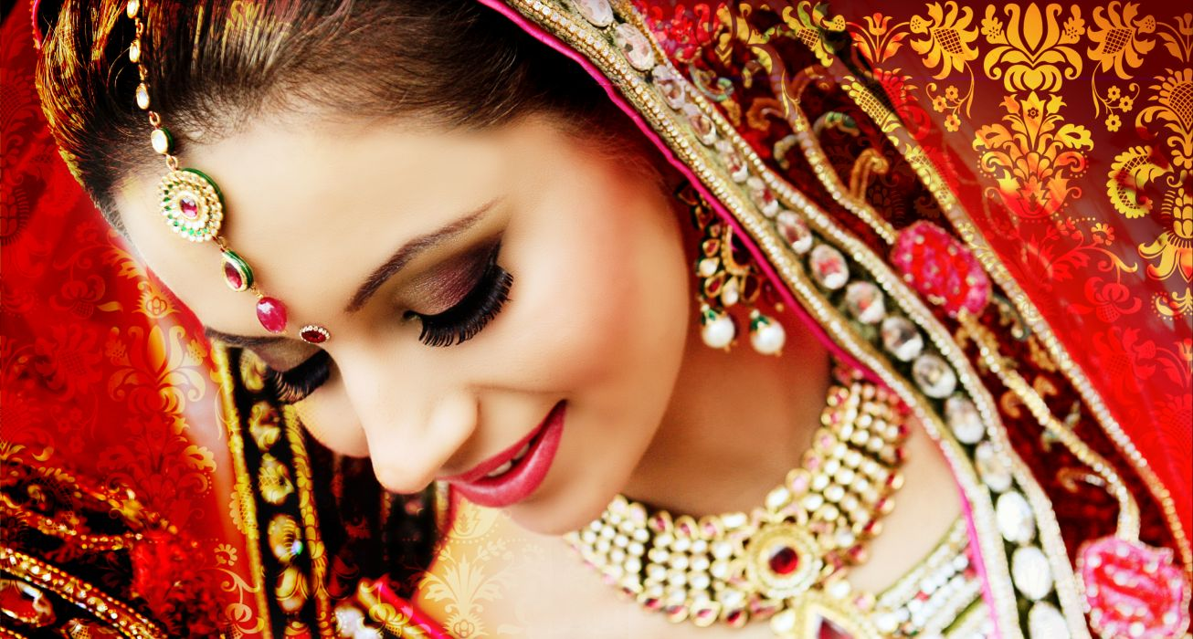 wedding bride gown dress fasshion asian girl make-up mood wallpaper