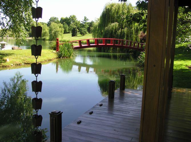 bridge garden river f_JPG wallpaper