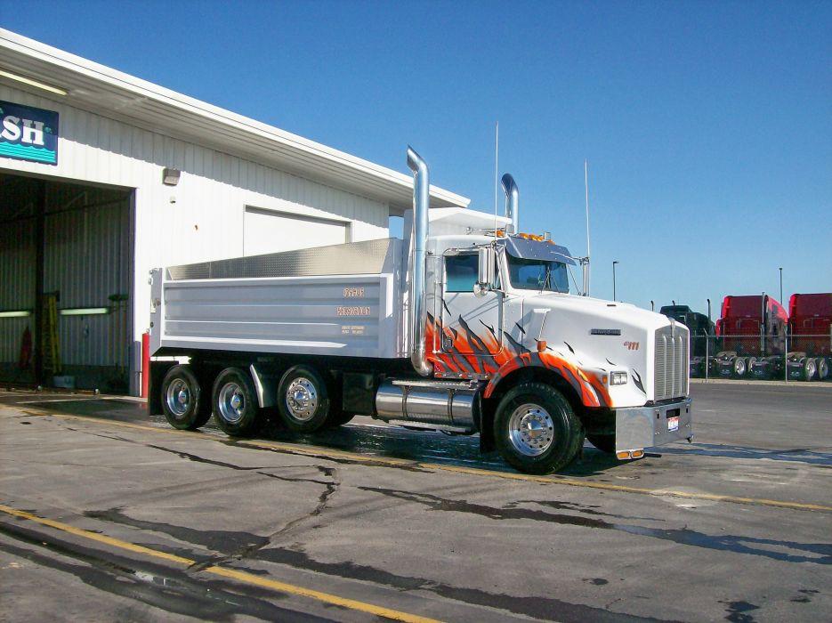 Kenworth T800 dump truck wallpaper