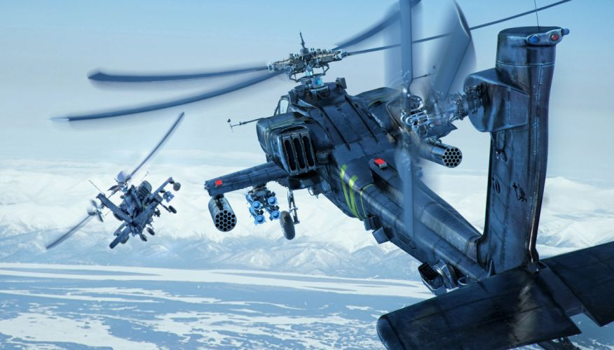 sky apache boeing longbow ah-64d helicopter military d wallpaper