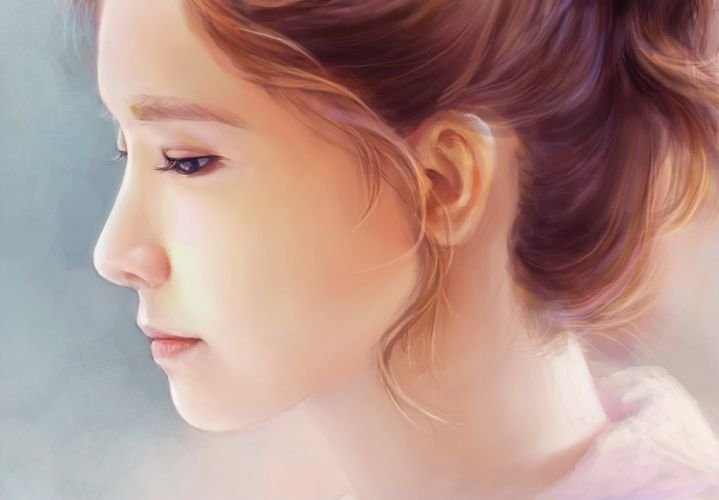 Art Yoona SNSD Girls Generation Kpop South Korea music girl asian profile wallpaper