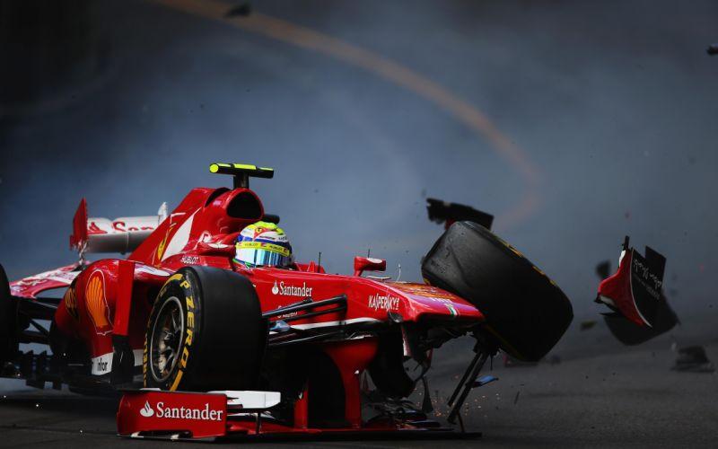 crash race racing formula f-1 wallpaper