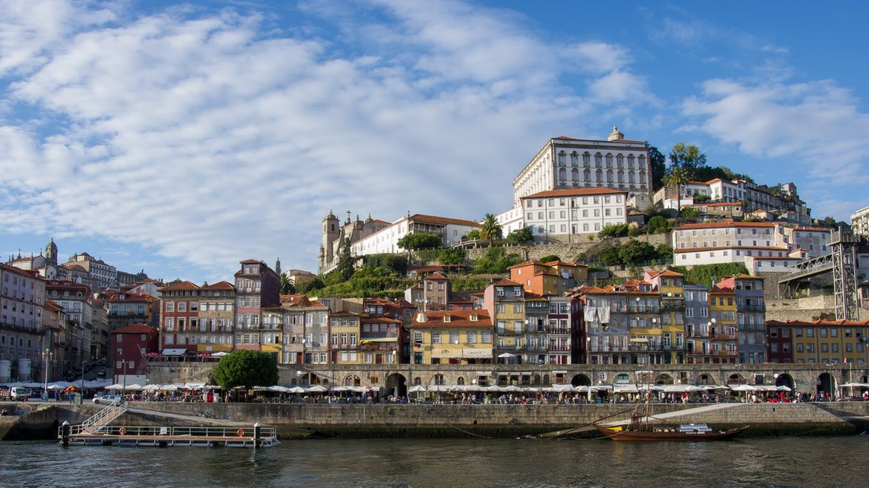 Portugal Houses Porto Cities wallpaper