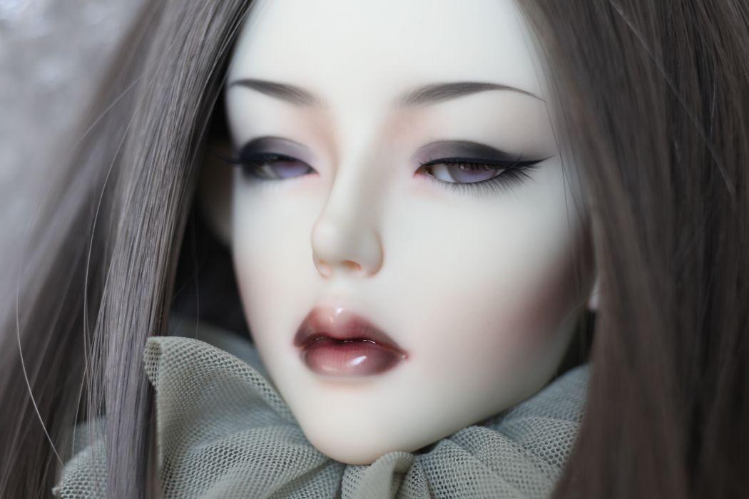 Toy Face Doll Little girls fantasy mood        f wallpaper