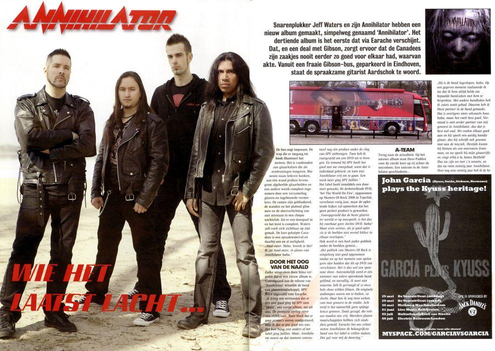 ANNIHILATOR speed thrash metal heavy poster       g wallpaper