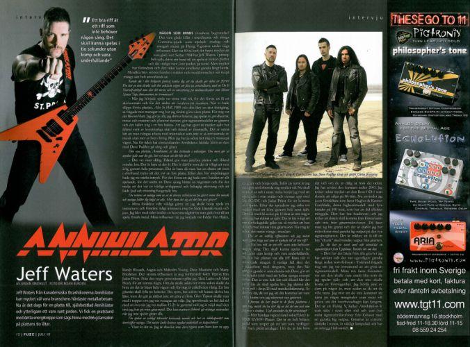 ANNIHILATOR speed thrash metal heavy poster r wallpaper