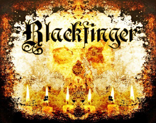 BLACKFINGER heavy metal dark skull fire f wallpaper