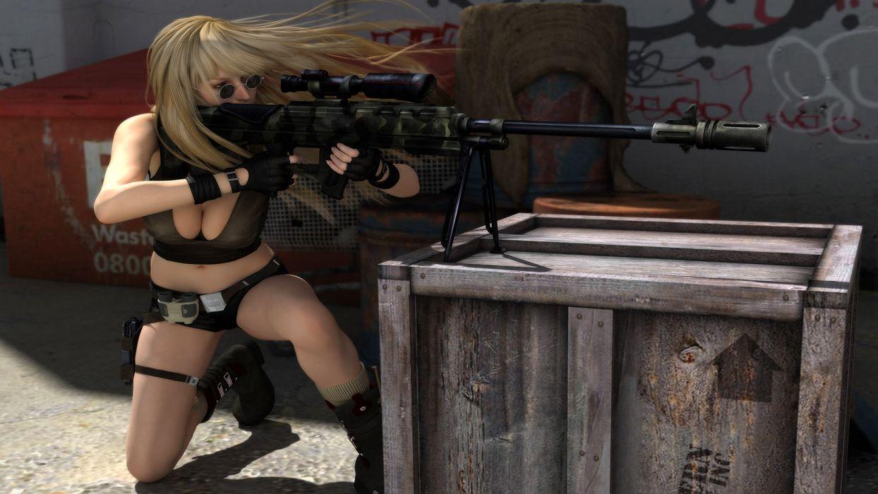 GIRLS WITH GUNS weapon gun girls girl sexy babe    h wallpaper